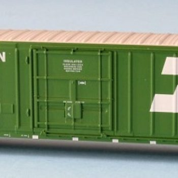 WOT BN Burlington Northern   Ex Post Insulated Box 10′ 6″ Plug Door