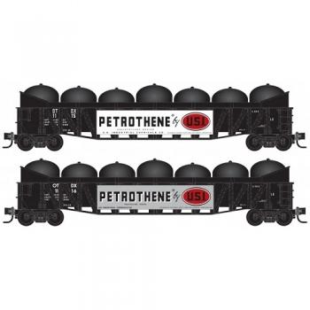 "Micro-Trains 99301970   O-T-D Corp ""Petrothene"" 2pk Gondola w/load"