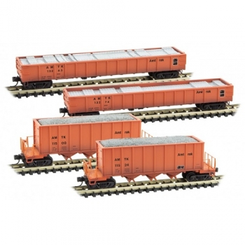 Micro-Trains 99302010  Amtrak MOW Maintenance of Way  4pk w/load