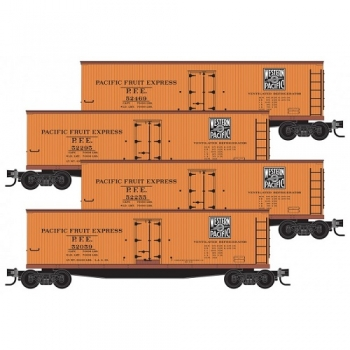 Micro-Trains 99300171 WP Western Pacific 4pk 40′ Wood Side Ice Reefers