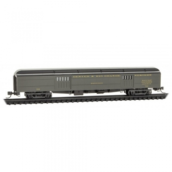 Micro-Trains 14700390 D&RGW Denver Rio Grande Rd# 742 70′ Heavyweight Baggage