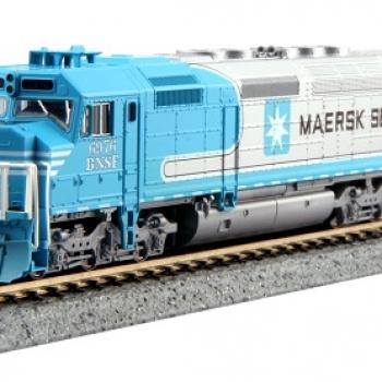 N Kato 176-9241 EMD SDP40F BNSF,  Maersk Rd#6976 DCC Ready