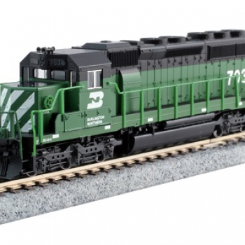 N Kato 176-4961 SD40-2 BN Burlington Northern  7036 DCC Ready