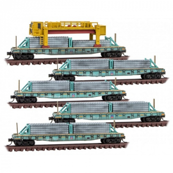 N Micro-Trains 993 02 170  Union Pacific Weathered Concrete Tie 5-pk
